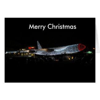 クリスマスの飛行機カードのための家 カード
