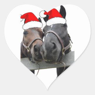 クリスマスの馬 ハートシール