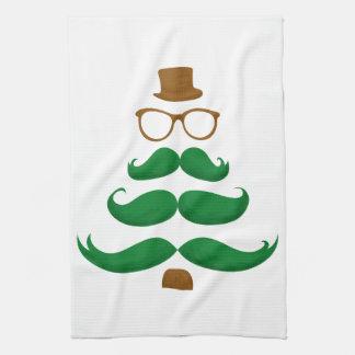 クリスマスの髭の木 キッチンタオル