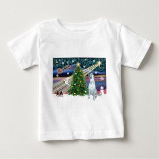 クリスマスの魔法のアイリッシュ・ウルフハウンド ベビーTシャツ