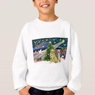 クリスマスの魔法のゴールデン・リトリーバー(2) スウェットシャツ