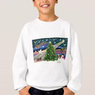 クリスマスの魔法のシーズー(犬)のTzuの子犬 スウェットシャツ