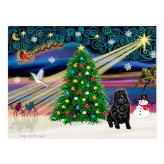 クリスマスの魔法の中国語Shar Pei- ポストカード