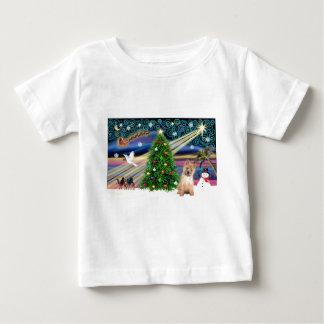 クリスマスの魔法ケルンのredpup ベビーTシャツ