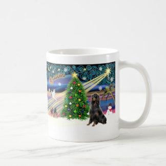 クリスマスの魔法ゴードンのセッター コーヒーマグカップ