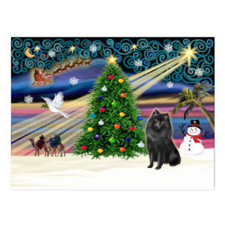 クリスマスの魔法スキッパーキ ポストカード