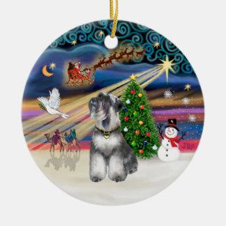 クリスマスの魔法-シュナウツァー6 セラミックオーナメント