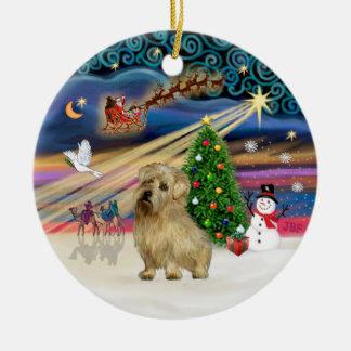 クリスマスの魔法-ノーフォークテリア(wheaten) セラミックオーナメント