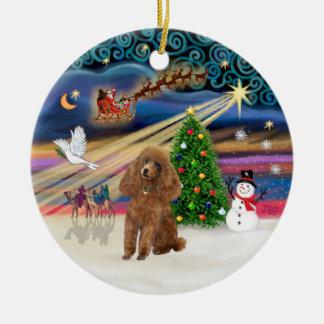 クリスマスの魔法-プードル(おもちゃの杏子) セラミックオーナメント