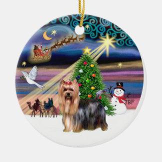 クリスマスの魔法-ヨークシャーテリア9 セラミックオーナメント