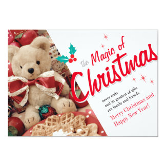 クリスマスの魔法 12.7 X 17.8 インビテーションカード