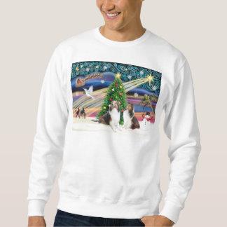 クリスマスの魔法- 2シェットランド・シープドッグ スウェットシャツ