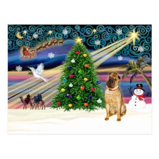 クリスマスの魔法Sharpei子鹿 ポストカード