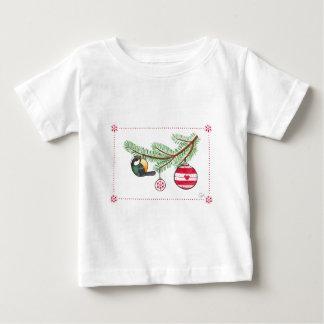 クリスマスの鳥およびつまらないもの ベビーTシャツ