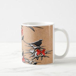 クリスマスの鳥および弓 コーヒーマグカップ