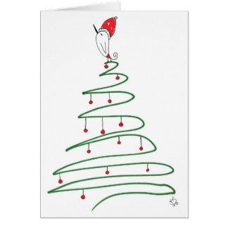 クリスマスの鳥の挨拶状 カード