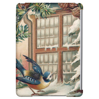 クリスマスの鳥の木のマツ円錐形 iPad AIRケース
