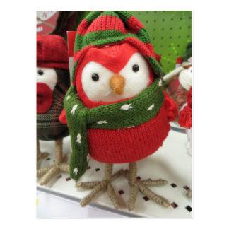 クリスマスの鳥 ポストカード