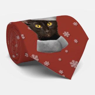 クリスマスの黒のサンタおもしろいな猫 タイ