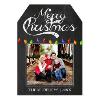 クリスマスの黒板の写真の挨拶状2 カード