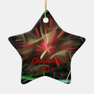 クリスマスの2011年/新年2012年 セラミックオーナメント