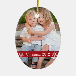 クリスマスの2012年の写真の記念品のオーナメント セラミックオーナメント