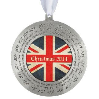 クリスマスの2014年の英国国旗愛平和喜びのオーナメント オーナメント