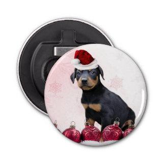 クリスマスの(犬)ドーベルマン・ピンシェル犬 ボタン型 センヌキ