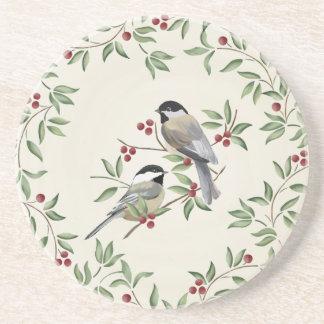 クリスマスの《鳥》アメリカゴガラの砂岩コースター コースター