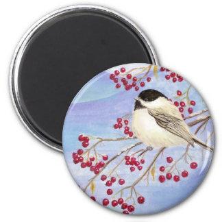 クリスマスの《鳥》アメリカゴガラの磁石 マグネット