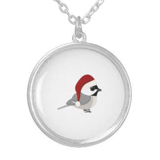 クリスマスの《鳥》アメリカゴガラ シルバープレートネックレス