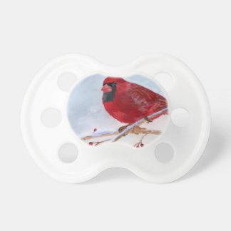 クリスマスの(鳥)ショウジョウコウカンチョウ おしゃぶり