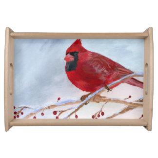 クリスマスの(鳥)ショウジョウコウカンチョウ トレー