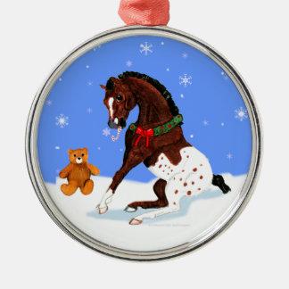 クリスマスのAppaloosaの子馬のオーナメント メタルオーナメント