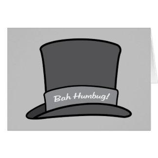 クリスマスのBahのばかばかしく特別な人のシルクハット カード