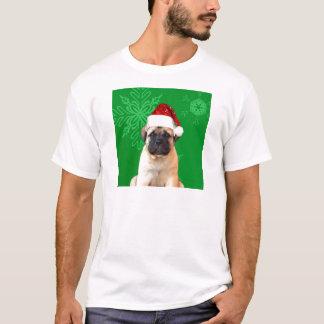 クリスマスのBullmastiffの子犬 Tシャツ