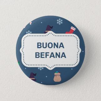 クリスマスのbuona Befana 缶バッジ