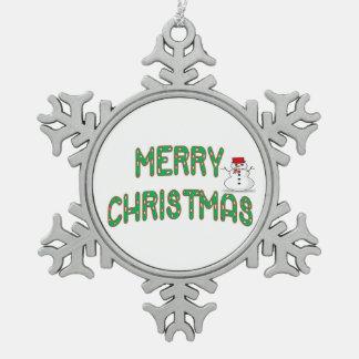 クリスマスのCandysticksの装飾的なオーナメント スノーフレークピューターオーナメント