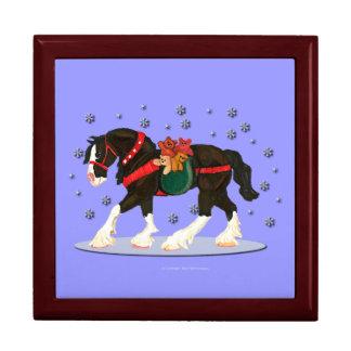 クリスマスのClydesdaleの馬およびテディ箱 ギフトボックス
