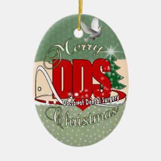 クリスマスのDDSの歯科医師 セラミックオーナメント