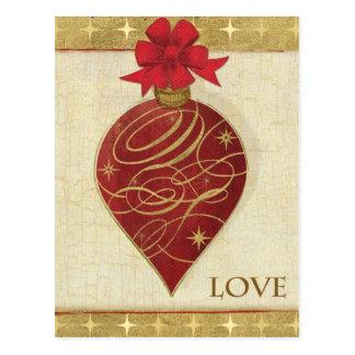 クリスマスのDŽcorの赤い希望 ポストカード
