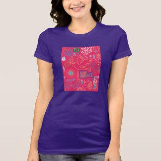クリスマスのIllusの画像的な女性のお気に入りのなTシャツ Tシャツ