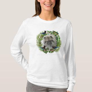 クリスマスのKeeshondのTシャツ#1 Tシャツ