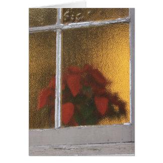 クリスマスのLaのVillitaの窓の少し教会 カード