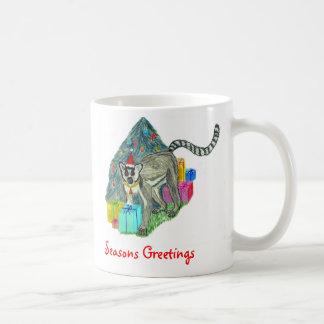 クリスマスのLemur コーヒーマグカップ