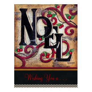 クリスマスのNoelの~の郵便はがきの写真の挿入物の休日 ポストカード