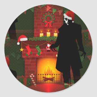 クリスマスのnosferatu ラウンドシール