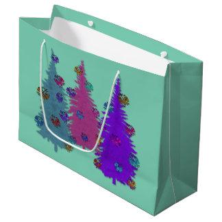 クリスマスのPineconesのギフトバッグ ラージペーパーバッグ