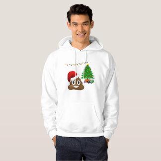 クリスマスのpooのemojiメンズフード付きのフード付きスウェットシャツのスエットシャツ パーカ