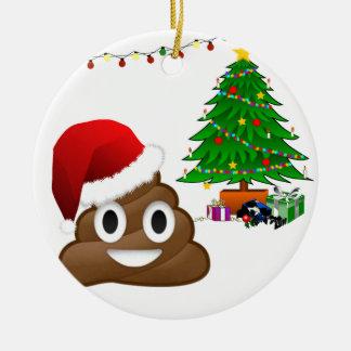 クリスマスのpooのemoji セラミックオーナメント